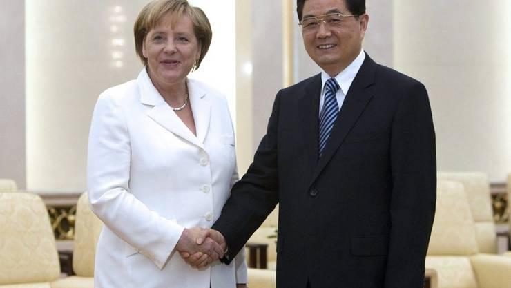 Mit Angela Merkel
