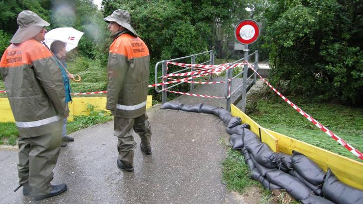 Bei einem Schadenereignis, wie einem Hochwasser, ist auch der regionale Führungsstab vor Ort gefragt.