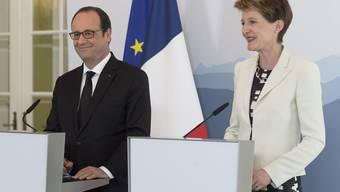 Hollande zu Besuch in der Schweiz