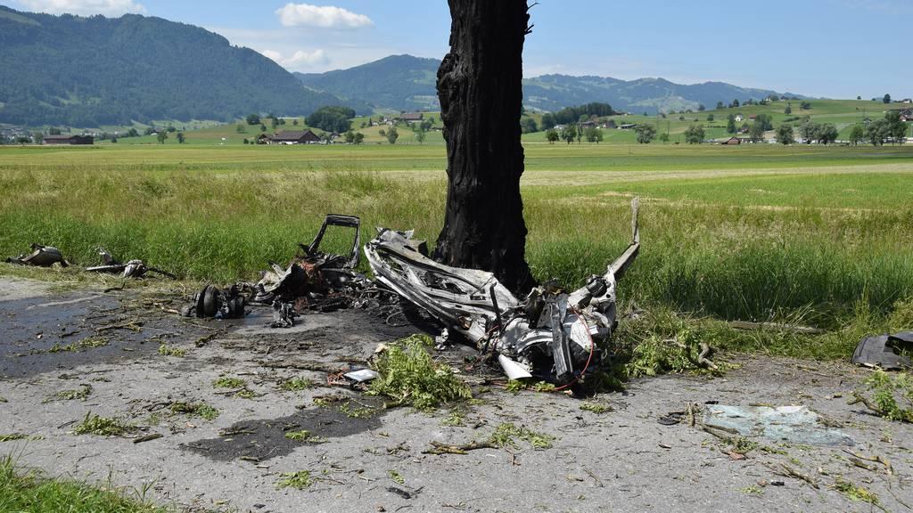 Autolenker prallt in Baum und stirbt