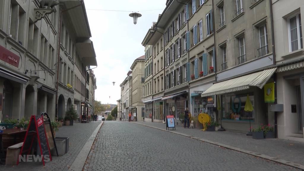 Leere Gassen in Burgdorf