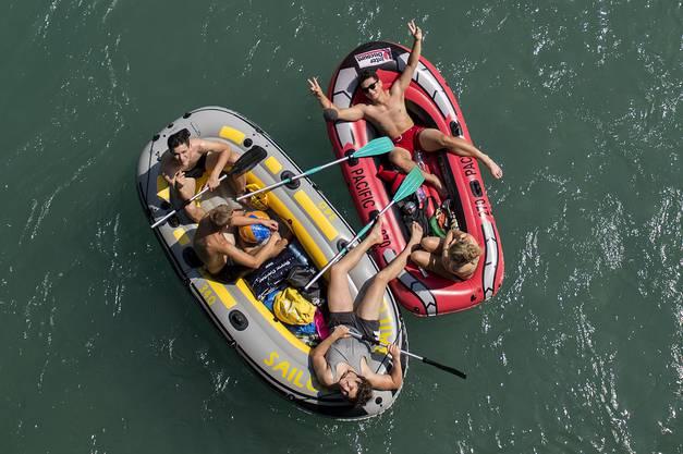Tausende waren am Wochenende auf den Schweizer Flüssen mit Gummibooten unterwegs.