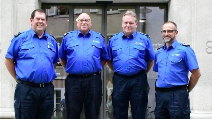 Von links: Repol-Chef Heiner Hossli, Rolf Hitz, Walter Huber und der zukünftige Repol-Chef Andreas Lüscher. Janine Müller