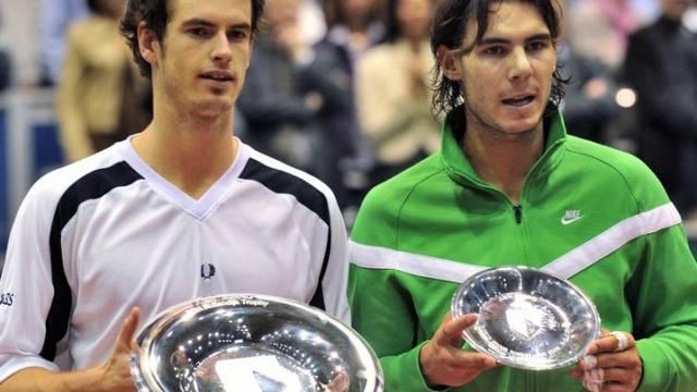 Für Nadal (r.) reichte es gegen Murray nur zur kleinen Schüssel