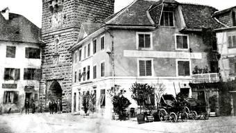Das Alte Berntor um 1877.