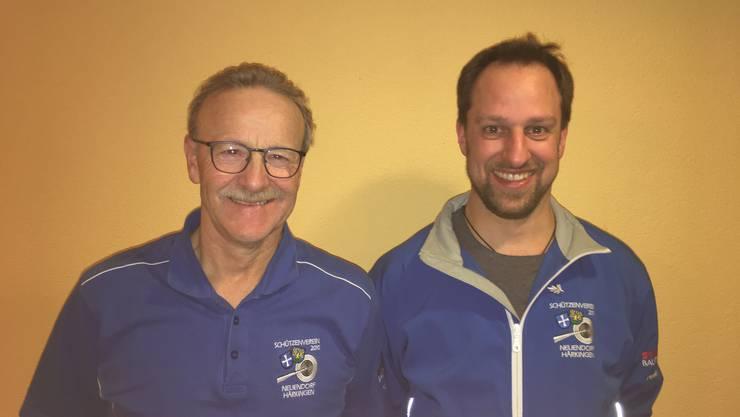 Die Vereinsmeister 2019 Walter Füeg, links und Jörg Nicklaus rechts