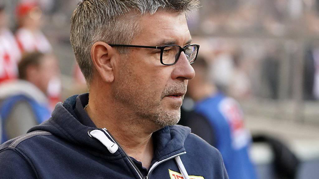 Trainer Urs Fischer hält den Ball zwar bewusst flach. Das Ziel von Union Berlin nach seiner verblüffenden Zweitliga-Saison ist aber klar: Aufstieg in die erste Bundesliga