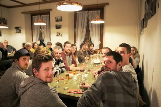 Das Gasthaus Krone in Stetten feierte am Samstag Neueröffnung. Im Bild: Das Brennerstübli.