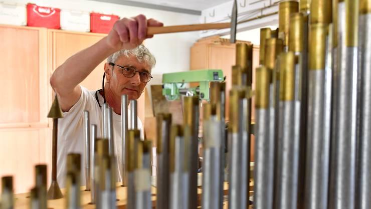 Claudio Galli in seiner Werkstatt in Schönenwerd.