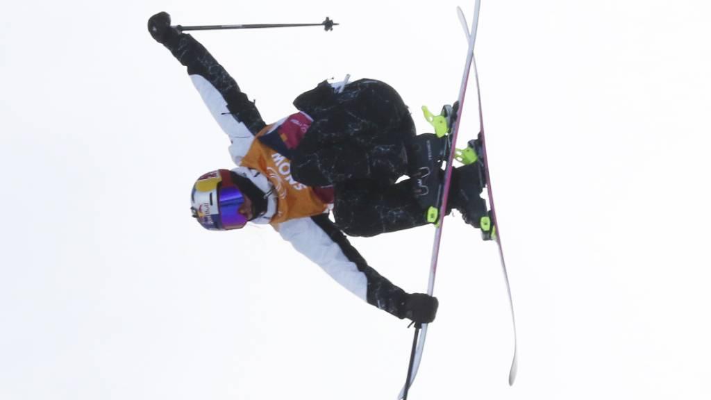 Die Freiburger Freestylerin Mathilde Gremaud bei einem ihrer Runs Mitte Februar beim Weltcup in Calgary