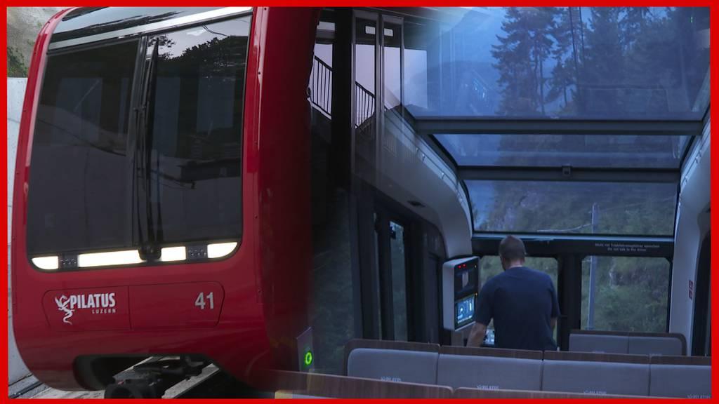 Schneller und mit grosser Fensterfront: So fährt es sich in der neuen Pilatus-Bahn