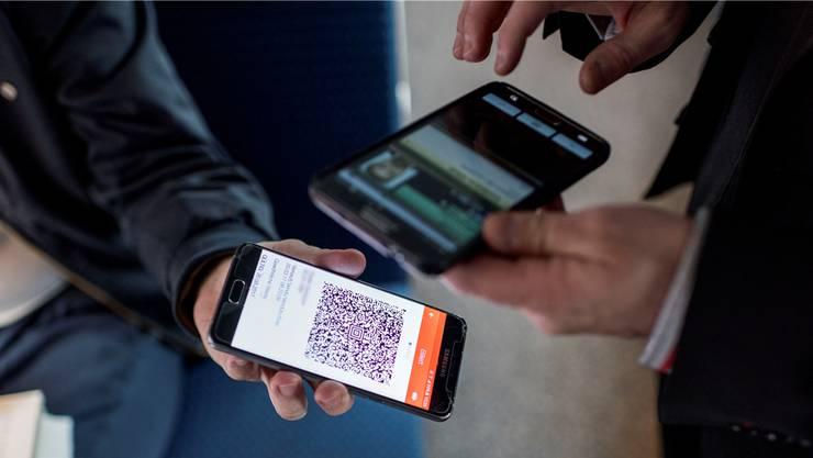 Differenzierte Preise: das Ticket auf dem Smartphone.CHRISTIAN BEUTLER/Key