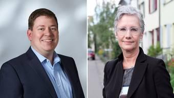Grossrat Balz Herter (links) will Parteipräsidentin Andrea Strahm beerben und die Basler CVP künftig prägen.