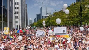 Tausende Menschen gingen in Brüssel auf die Strasse
