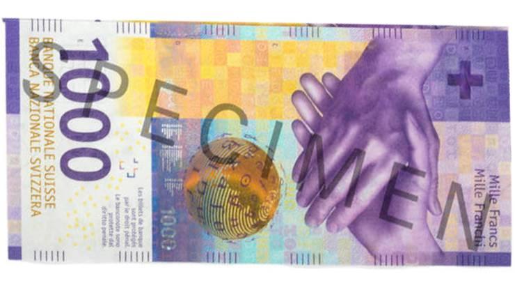 2019: Die neuste 1000er-Note der neunten Banknotenserie.
