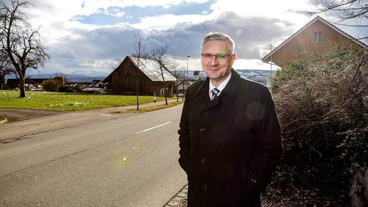 Gemeindeammann Andreas Glarner in Oberwil-Lieli. Seine Gemeinde will kejne Asylsuchende aufnehmen.