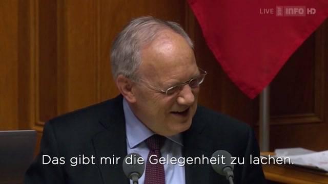 Schneider-Ammann kann spassen