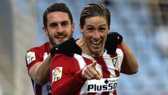 Traf beim 1:0 gegen Getafe zum 101. Mal für Atletico Madrid: Fernando Torres (vorne)