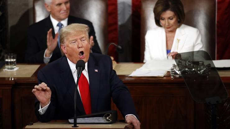 Trumps Rede zur Lage der Nation ist pure Selbstbeweihräucherung - seine Lieblingsgegnerin Nancy Pelosi reagiert auf den verweigerten Handschlag.