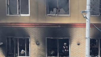 Nach einem mutmasslichen Brandanschlag ist das Animationsstudio in Kyoto völlig ausgebrannt.