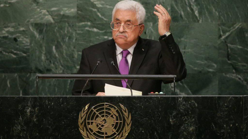 Abbas vor der UNO-Vollversammlung: «Haben keine andere Wahl.»