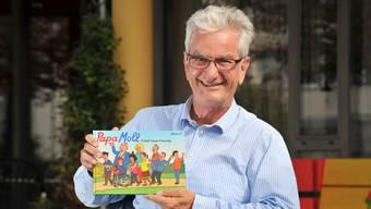 AWZ-Heimleiter Roger Cavegn und sein Sohn Til haben einige Ideen zum neuen Papa-Moll-Buch beigesteuert.