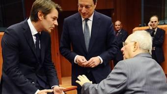 Gespräche am Rande des Treffens der Euro-Finanzminister