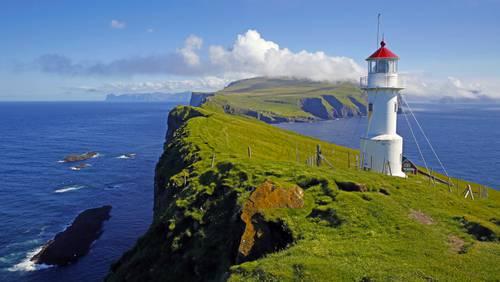 Leuchtturm auf Mykines, Färöer