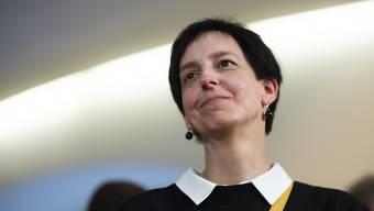 Die neu gewählte Regierungsrätin Susanne Hartmann (CVP), bei den Wahlen im Kanton St.Gallen am Sonntag.