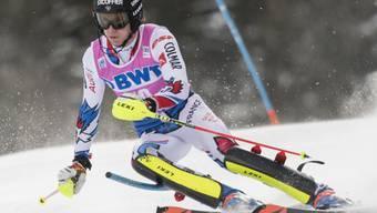 Clément Noël war im ersten Lauf des Slaloms in Wengen klar der Beste