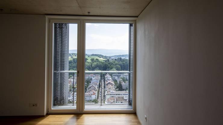 Vor allem kleinere Wohnungen stehen öfter leer. Blick aus dem Meret-Oppenheim-Hochhaus.