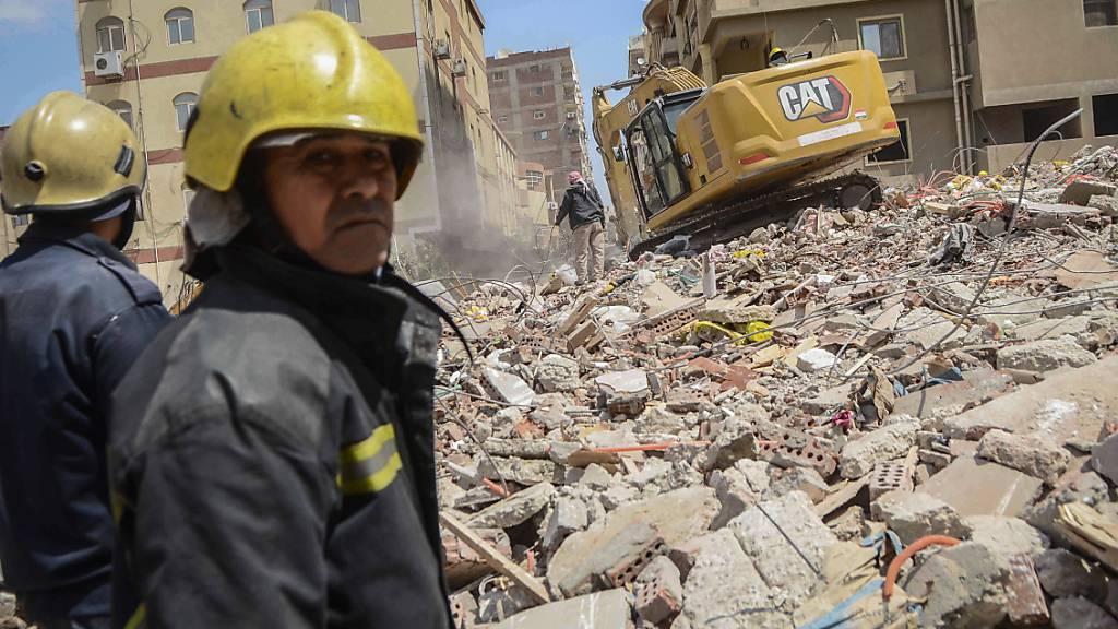 Gebäude in Kairo eingestürzt - Zahl der Todesopfer steigt auf 23