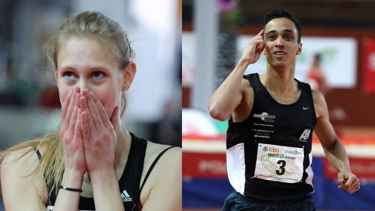 Livia Odermatt und Jan Hochstrasser freuen sich über ihre Medaillen.