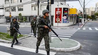Die brasilianische Regierung schickte 200 Militärs in die Region, nachdem es seit dem Wochenende zu einer Welle an Morden und Überfällen kam.