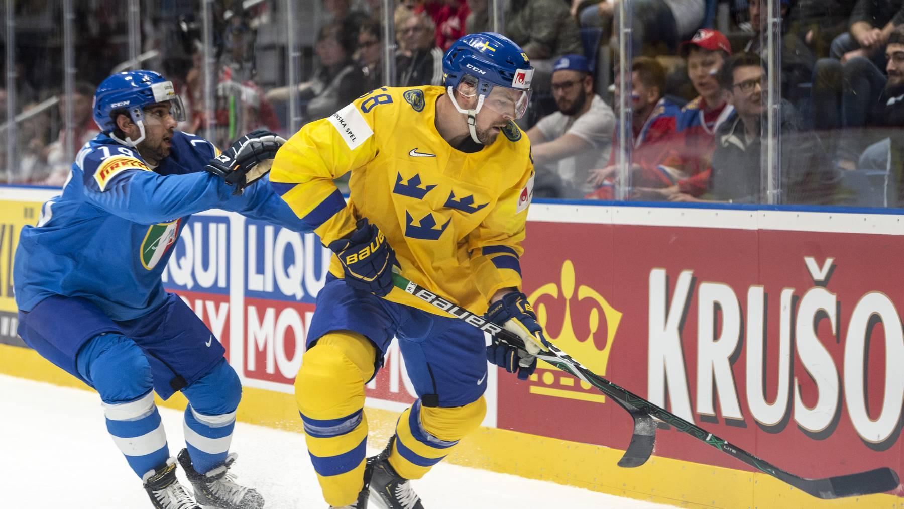 Der schwedische Nationalspieler Anton Lander stürmt künftig für den EV Zug.