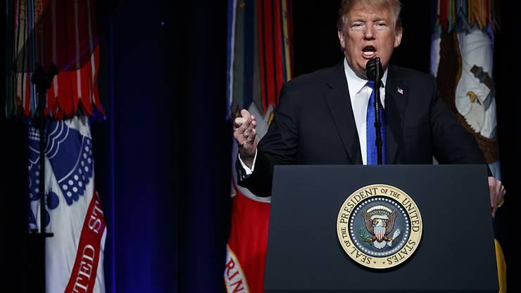US-Präsident Donald Trump stellt ein Strategiepapier zur Modernisierung der Raketenabwehr vor.