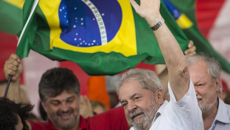 Der frühere Präsident Brasiliens Luiz Inácio Lula da Silva sitzt seit April wegen Korruption im Gefängnis. (Archiv)