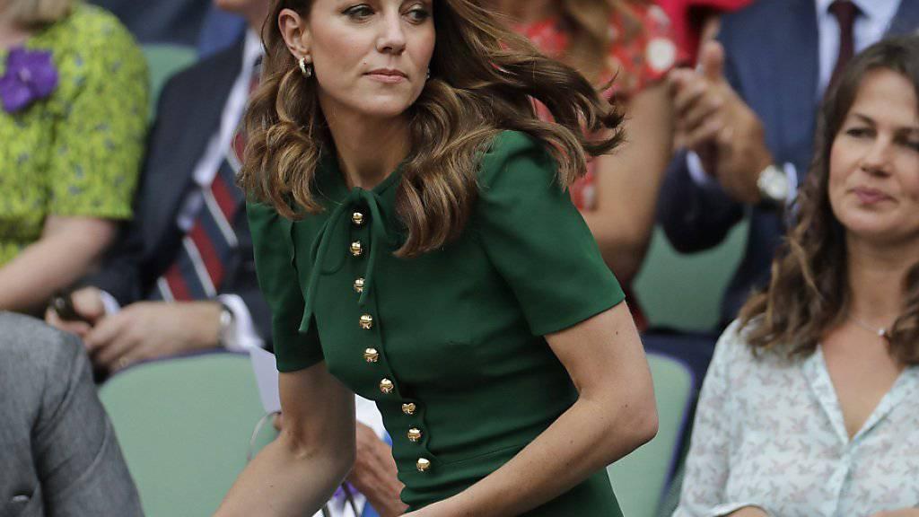Auch Herzogin Kate wohnte dem einseitigen Final in der Royal Box bei