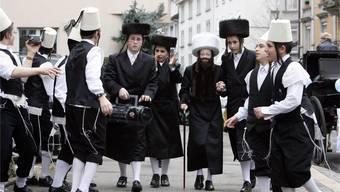 Jüdische Buben feiern in Zürich Purim. (Archiv)