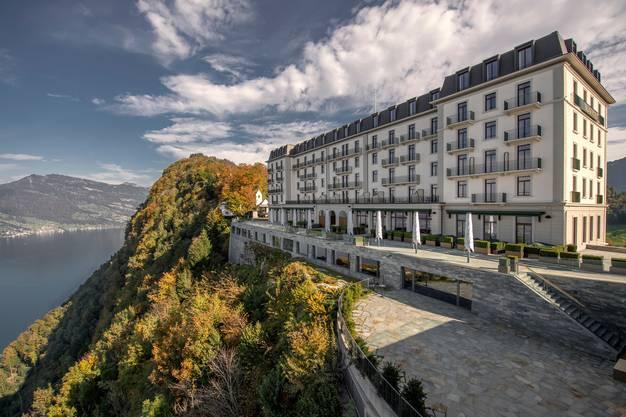 Das Hotel-Resort Bürgenstock: Den WEF-Teilnehmern entginge die grossartige Aussicht auf den Vierwaldstättersee und Luzern.
