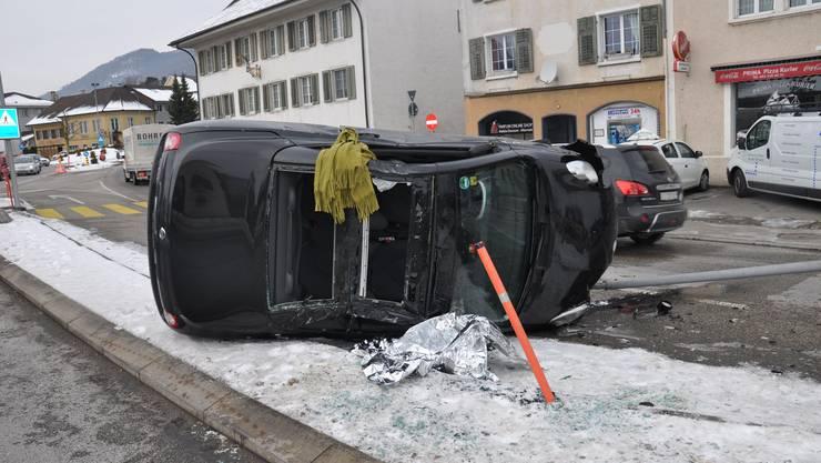 Zum Unfall kam es am Montagnachmittag