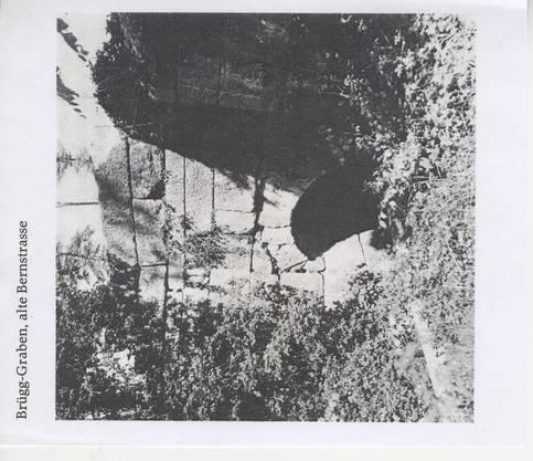Der letzte im Dorf tätige Korbflechter verabschiedete sich vor 60 Jahren mit Besen und einer Schnapsflasche.Bild: zvg