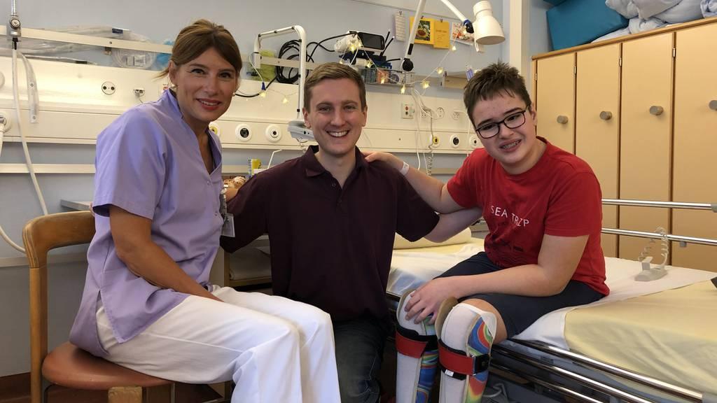 So überrascht Felix die Kinder im Kinderspital St.Gallen