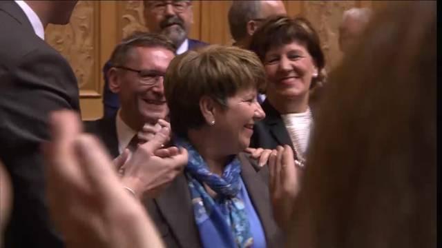 Viola Amherd schon im ersten Durchgang gewählt