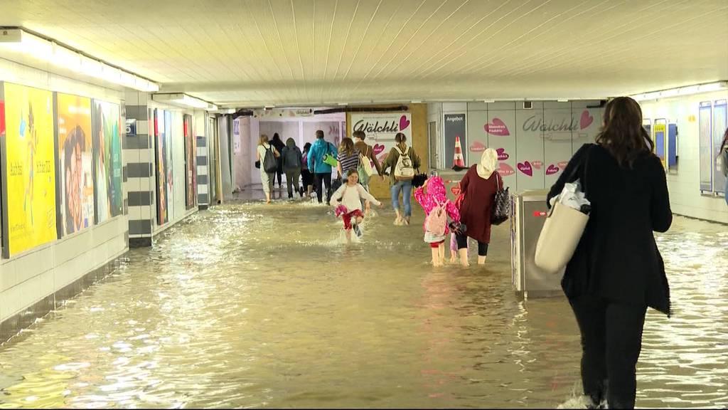 Bahnhof Aarau überflutet: «Wir waren schockiert»