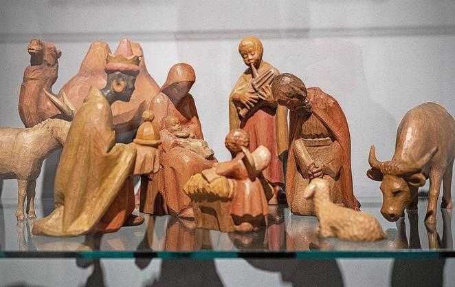 Diese Holzfiguren wurden in Lungern von Josef Gasse hergestellt.