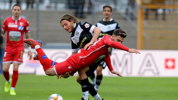 Fallen Bastien Toma (vorne) und der FC Sion in die Barrage?