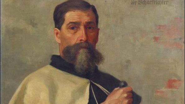 Das Bild von Henker Theodor Mengis hängt in Rheinfelden.