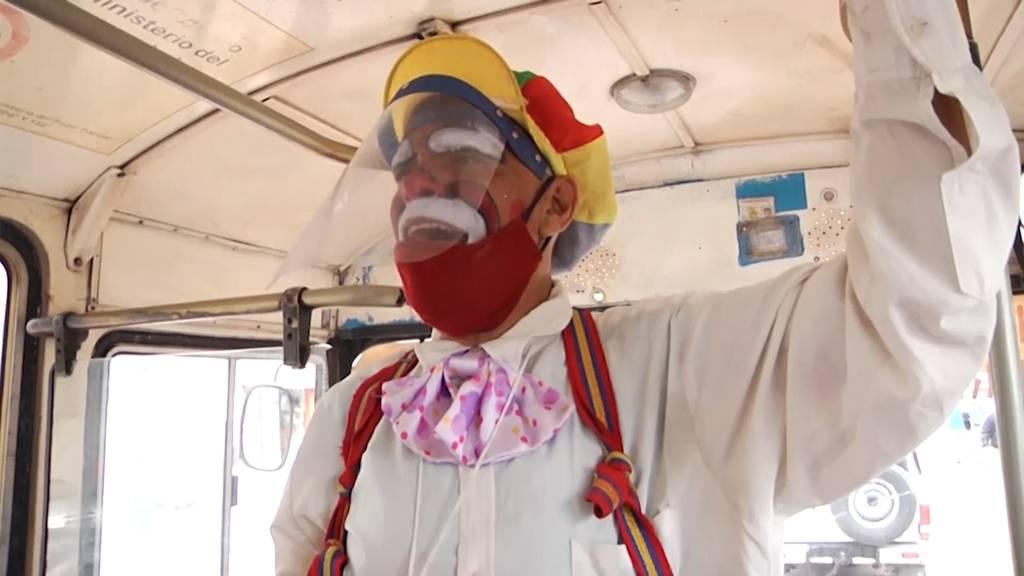 Venezuela: Clown appelliert an die Bevölkerung