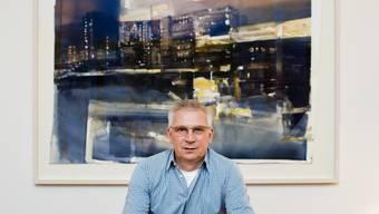 DuBois-Besitzer Thomas Steinemann in seinem Homeoffice in Basel.